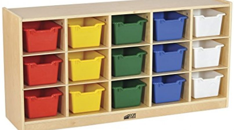 Birch 15 Cubby Tray From ECR4Kids: Best Furniture for Kids' Room